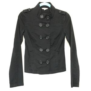 Nordstrom Rubbish Black Military Style Jacket S